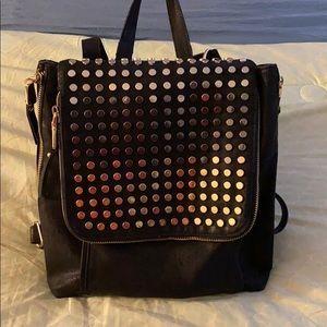 Black stud book bag/ crossbody